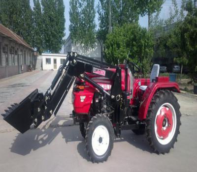 潍坊泰山304 拖拉机加装铲斗30马力农用拖拉机